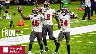 Ronde Barber Breaks Down Key Defensive Plays vs. New Orleans | Film Session
