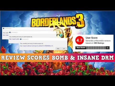 Borderlands 3 Reviews TANK & Ridiculous Internet Hogging DRM