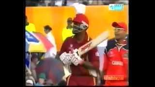 Brian Lara scores 26 runs off 1 over vs Canada - CWC 2003