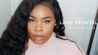 NO GEL OR NO GLUE LACEFRONTAL APPLICATION FT. MS HERE WATER WAVE | Mary Elizabeth