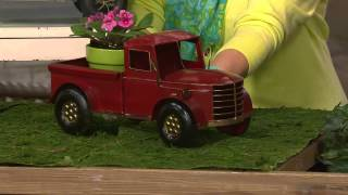 Plow & Hearth Outdoor/indoor Vintage Metal Truck Planter With Kerstin Lindquist