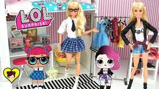 Barbie imita la ropa de las muñecas LOL Surprise - Los Juguetes de Titi