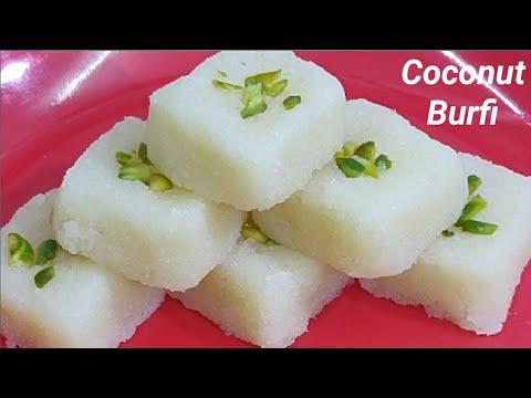కొబ్బరితో ఇలా 10నిమిషాల్లో బర్ఫీ చేసుకోండి నోట్లోవేసుకుంటేనే కరిగిపోతాయి/Coconut Burfi With Eng Subs