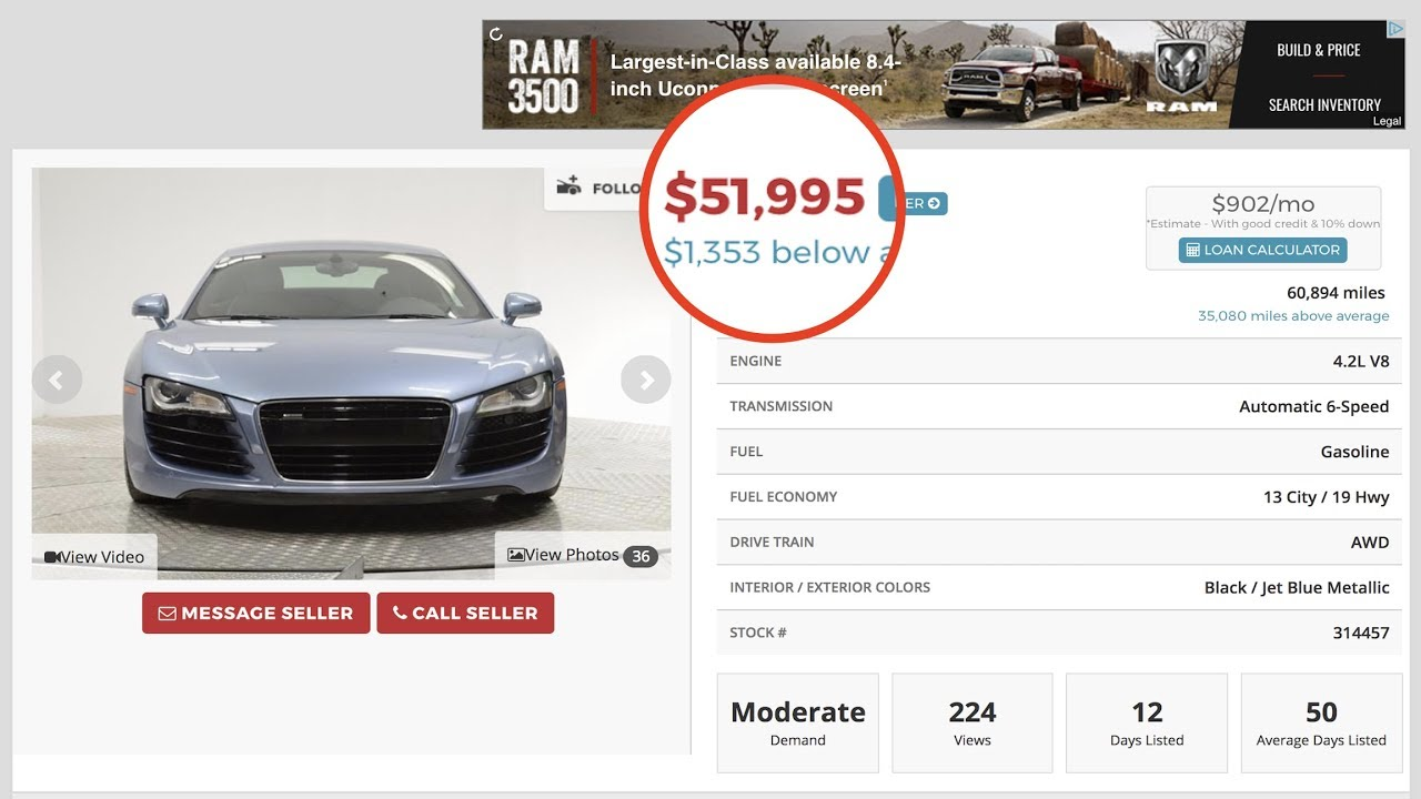 Buying The CHEAPEST AUDI R For ONLY How To Find The Best - Audi car loan calculator