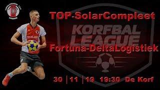 TOP/SolarCompleet 1 tegen Fortuna/Delta Logistiek 1, zaterdag 30 november 2019