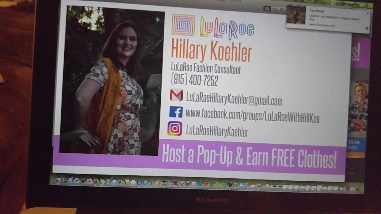 Create your own LuLaRoe business card - YouTube