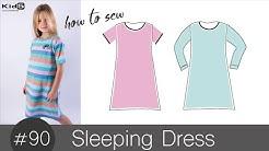 Nachthemd in A-Line für kleine Mädchen ganz einfach selber nähen DIY-NÄH-Tutorial