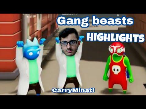 carryminati playing gang beasts - tops funny highlights
