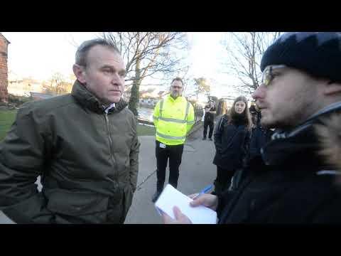 Environment Secretary George Eustice visits Shropshire floods
