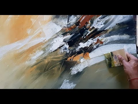 abstract painting abstract painting demonstration in