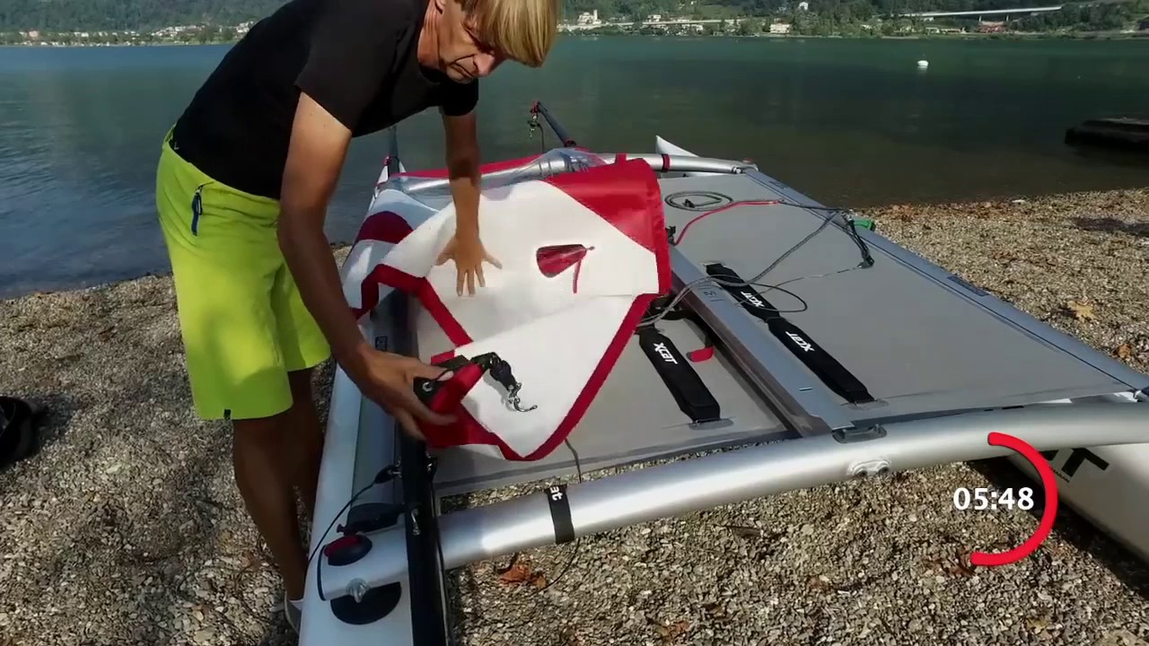 XCAT Catamaran | Complete Assembly in 15 Minutes! | Red Beard Sailing