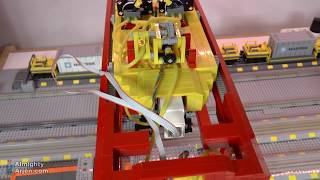 WIP Lego train container terminal automated by Arduino E09 Crane duration test