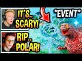 "Streamers React To *LIVE EVENT* ""CATTUS"" POLAR PEAK *MONSTER* REVEAL! (INSANE!) Fortnite Moments"