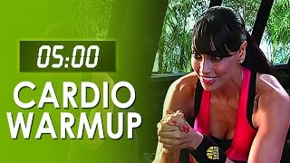5 Mins Fat Burner Cardio Warmup - Easy At Home Workout - Bipasha Basu Workout