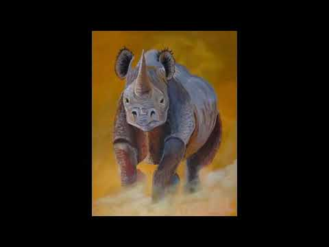 African wildlife art by Bwana Foster