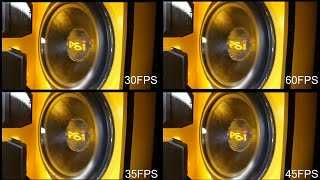 Subwoofer FRAME RATE! | What's The Best Looking FPS for Woofers? Testing FLEX RATES vs EXCURSION