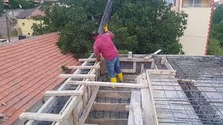 Staj merdiven ve kiriş için pompalı beton dökümü