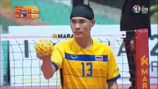 Thailand Vs Philippines (Semi-Finals) - Sepak Takraw 32nd King's Cup (2017)
