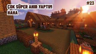 Efsane Ahır Yaptım! (Hayvanların Yeni yeri) - Minecraft Hayatta Kalma \u0026 Macera #23