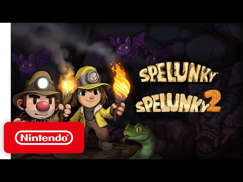 Spelunky and Spelunky 2 - Announcement Trailer - Nintendo Switch