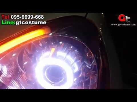 แต่งรถ March 10 แต่งไฟ Projector Xenon Tel. 095-669966-8 // 096-550-5504