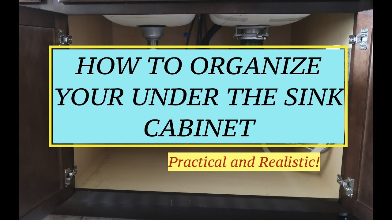 HOW TO ORGANIZE UNDER THE SINK CABINET Practical and Realistic with ...