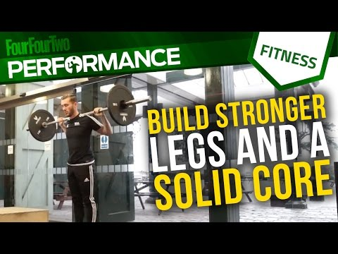 Gym workout | How to build stronger legs and a solid core | Soccer conditioning