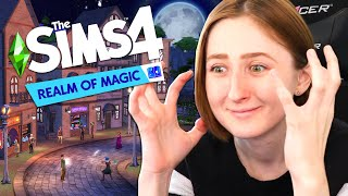 WIZARDS IN THE SIMS 4! REALM OF MAGIC TRAILER REACTION Video
