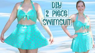 DIY Retro 2 Piece Swimsuit – How to Sew a High Waist Bathing Suit