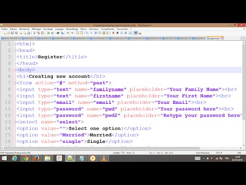 [HTML] tutorial #1 part 2 ,social network , php ,html (register page)