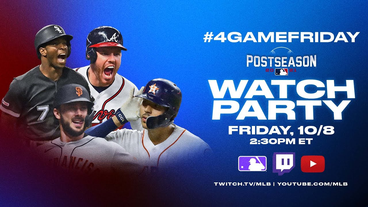 #4GameFriday Watch Party (All FOUR Division Series games on the same day! Reactions/Analysis)