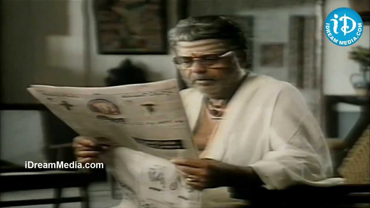 Chiranjeevi Gemini Ganesan Prasad Babu Nice Emotional: Chiranjeevi,Shobana Climax Scene