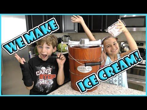 WE MAKE HOMEMADE ICE CREAM | We Are The Davises