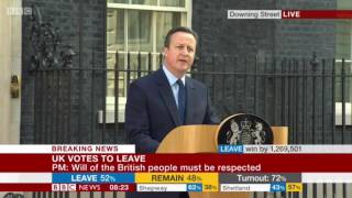 U.K. Prime Minister David Cameron Quits After Brexit Referendum Loss: Full Statement