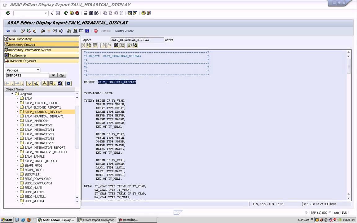 SAP ABAP Tcode Creation (TRANSACTION CODE)