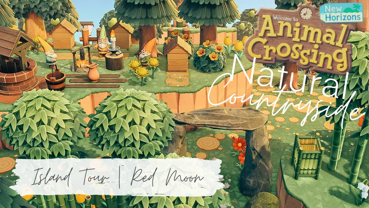 Natural Countryside Island Tour | Red Moon | Animal Crossing New Horizons