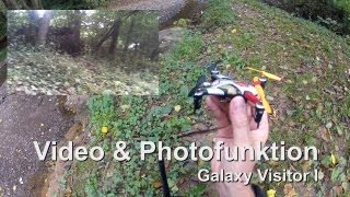 Nine Eagles Robbe Galaxy Visitor 1 Onbord Video und Phototest (Chrash) Quadrokopter