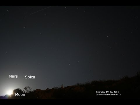 Video: Mars, Spica, moon rising and setting