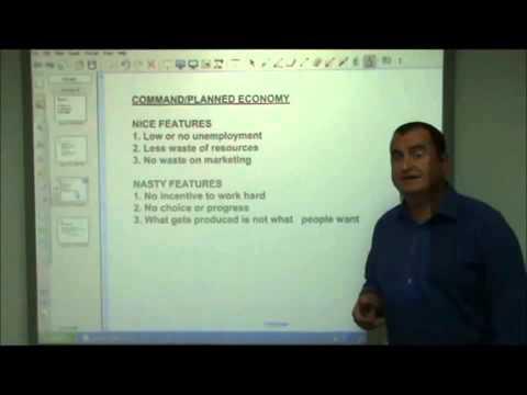 AS-Level Economics Video 3 - Market and Planned Economies