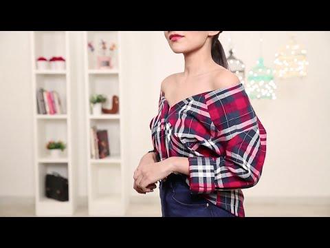 4 Stylish Ways To Wear Your Shirt   Fashion Hacks - POPxo