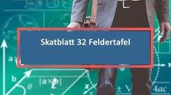 Skatblatt 32 Feldertafel