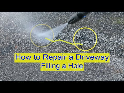 How to Repair Driveway - Filling a Crack or Hole