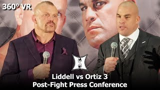 (360° VR EXCLUSIVE / 4K) Tito Ortiz Knocks Out Chuck Liddell: Post-Fight Press Conference