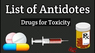 List Of Antidotes   Drug for Toxicity