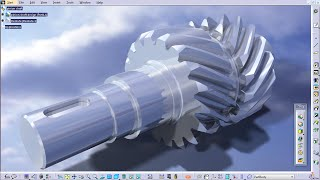 Pinion shaft - Part Design / Assembly Design / Generative Shape Design - CATIA V5
