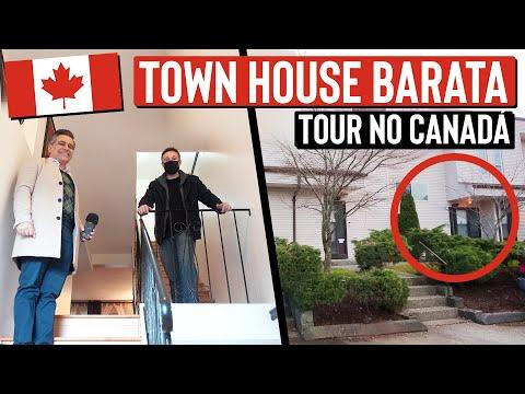 Tour por essa CASA Townhouse BARATA no Canadá - Quanto custa essa casa no Canadá?