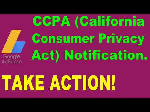 How To Fix CCPA (California Consumer Privacy Act Notification) In Google AdSense