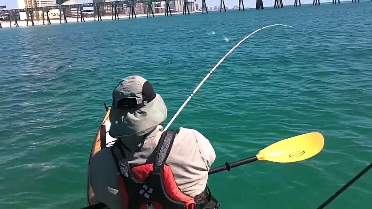 Kayak Fishing For Spanish Mackerel In Panama City Beach Hmong On A