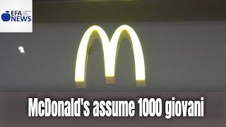 McDonald's assume 1000 giovani