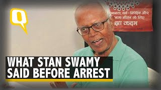 83-Yr-Old Rights Activist Stan Swamy Nabbed in Elgar Parishad Case | The Quint